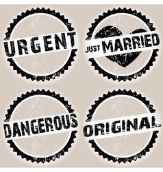 Black grunge stamps vector