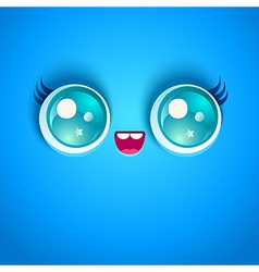 Blue face vector