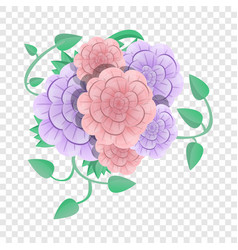 Camellia flower concept background cartoon style vector