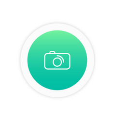 camera icon sign vector image