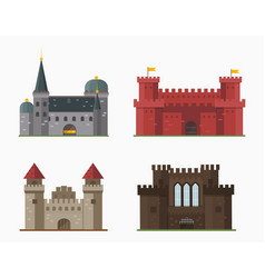 Cartoon fairy tale castle tower icon cute vector