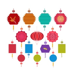 Chinese Lantern Collection Chinese new year and vector