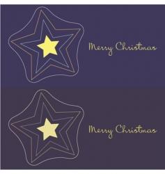 Christmas star design vector