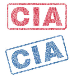 Cia textile stamps vector