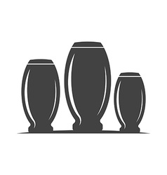 Collins type highball three glasses barrel shape vector