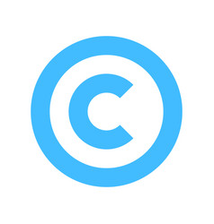Copyright symbol sign flat icon vector