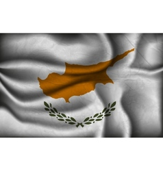 crumpled flag of Cyprus on a light background vector image