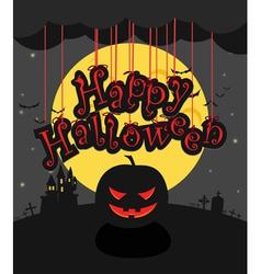 Dark sillhouettes happy halloween vector