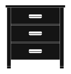 Drawer icon simple style vector