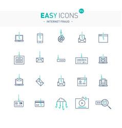 easy icons 51e internet fraud vector image