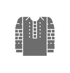 Embroidered shirt national ukrainian clothing vector