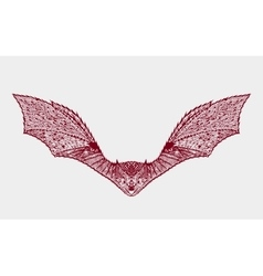 entangle stylized bat sketch for tattoo or t vector image