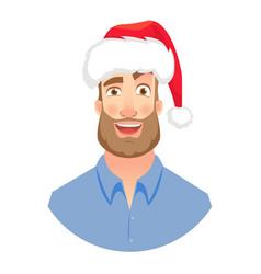 face man with beard vector image