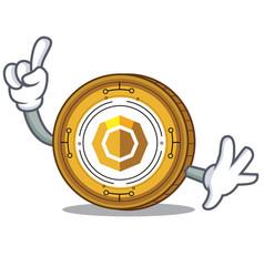 Finger komodo coin mascot cartoon vector