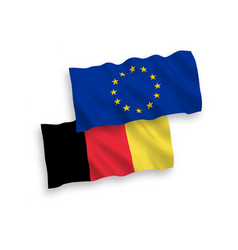 flags belgium and european union on a white vector image