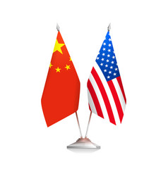 flags of usa and china vector image