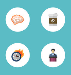 flat icons break limit businessman and other vector image