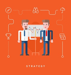 Flat Style Conceptual Two Businessmen Discussing vector