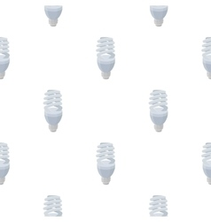 Fluorescent lightbulb icon in cartoon style vector