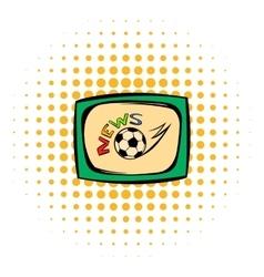 Football news icon comics style vector