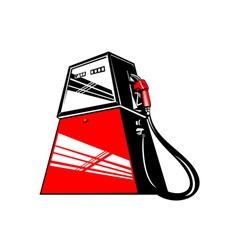 Fuel Pump Station Retro vector image