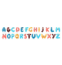 funny font letters cartoon vector image