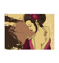 Geisha girl design vector