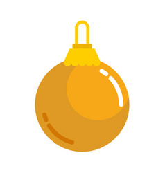 Gold plain christmas ball vector