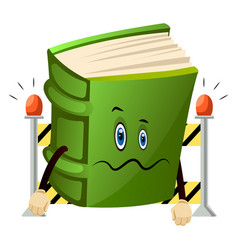 Green book is baffled on white background vector