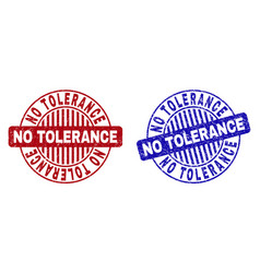 Grunge no tolerance scratched round stamps vector