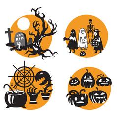 Halloween set 6 vector