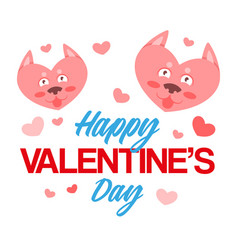 happy vallentines day vector image