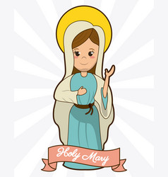 Holy mary devotion spirituality faith image vector