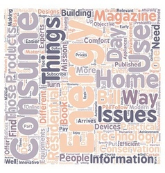 Home energy magizines text background wordcloud vector