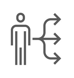 Human resource management line icon vector