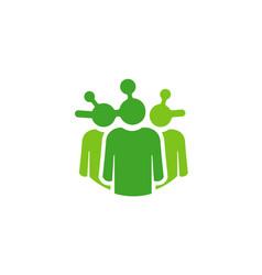 human share logo vector image
