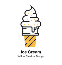 ice cream lineal color vector image