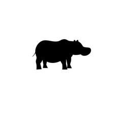 icon bright hippo vector image