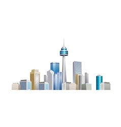 icon cityscape vector image