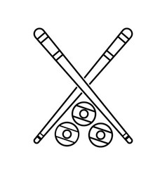 Isolated cue and ball design vector