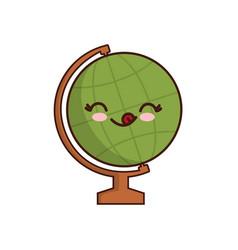 Kawaii geography tool icon vector