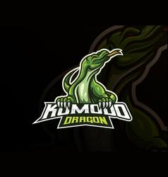 komodo mascot sport logo design vector image
