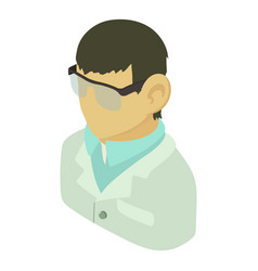 laboratory assistant asian icon isometric 3d vector image