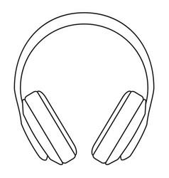 line art black and white headphones vector image