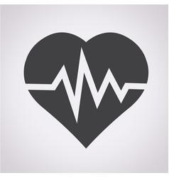 Line heart icon vector