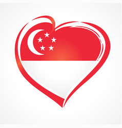 love singapore flag emblem vector image