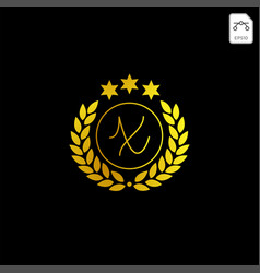 Luxury x initial logo or symbol business company vector