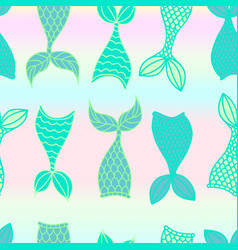mermaid scale seamless pattern vector image