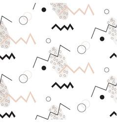 neo memphis geometric seamless pattern vector image