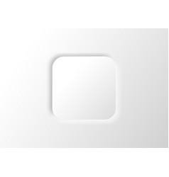 neumorphic square blank banner white copy space vector image